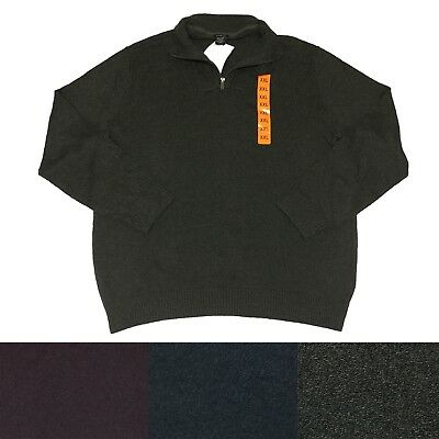CK Calvin Klein Jeans Men's 1/4 Zip Cotton Pullover Long Sleeve Sweater
