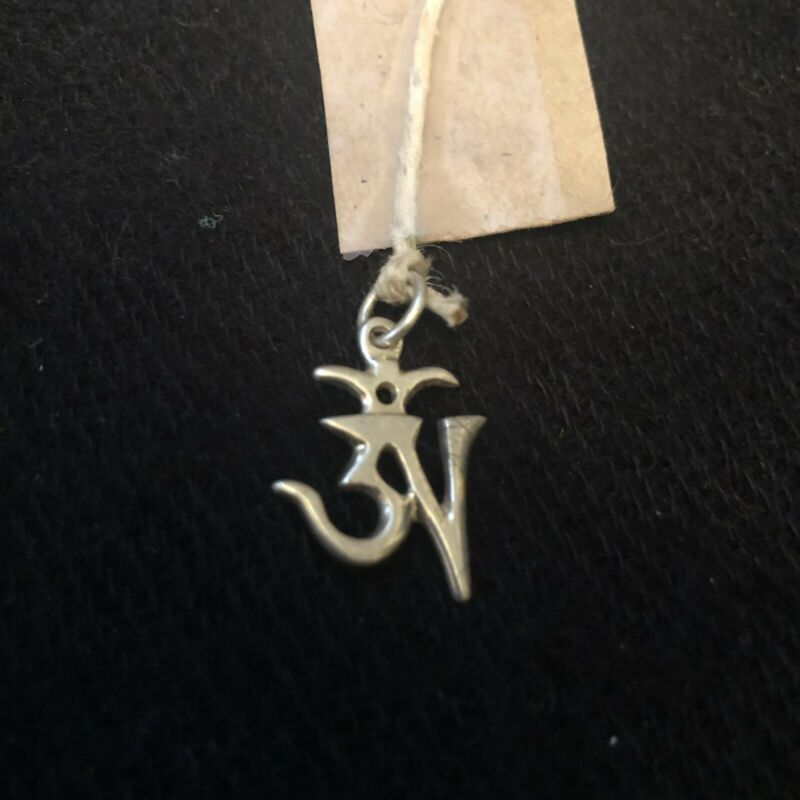Tibetan Ohm Symbol Charm For Necklace.  From Nepal