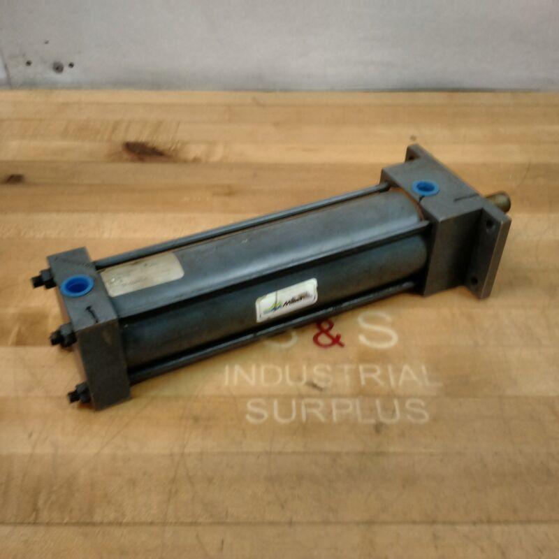 "Miller Fluid Power A61B4N Pneumatic Cylinder, 2-1/2"" Bore, 8"" Stroke, 250 PSI"