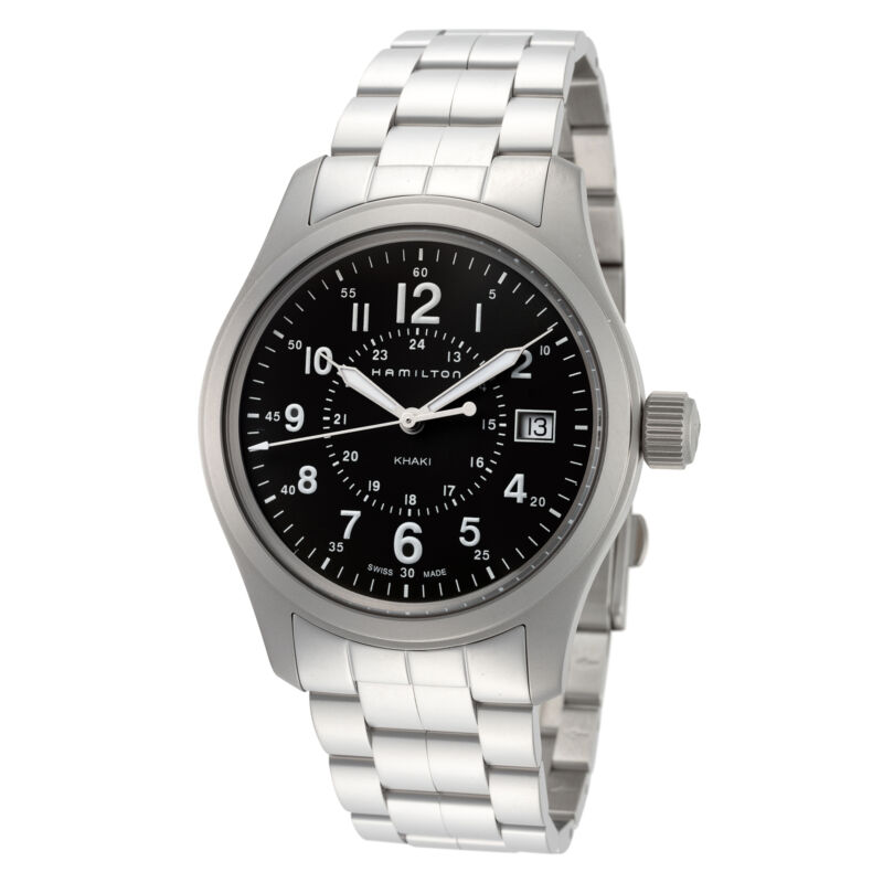 Hamilton Men Khaki Field H68201163 38mm Green Dial Stainless Steel Watch