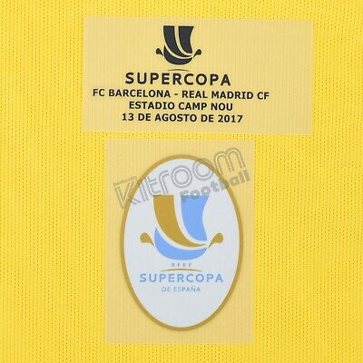 2017-18 Barcelona Supercopa 2017 vs Real Madrid Set Gk Player Issue Patch...