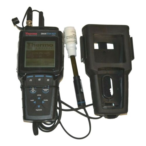 Thermo Scientific ORION STAR A221 Portable PH Meter, Ross Triode Probe & Holster