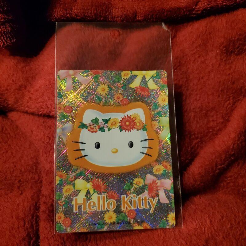Hello Kitty vintage 2001 orange flower glittery stickers
