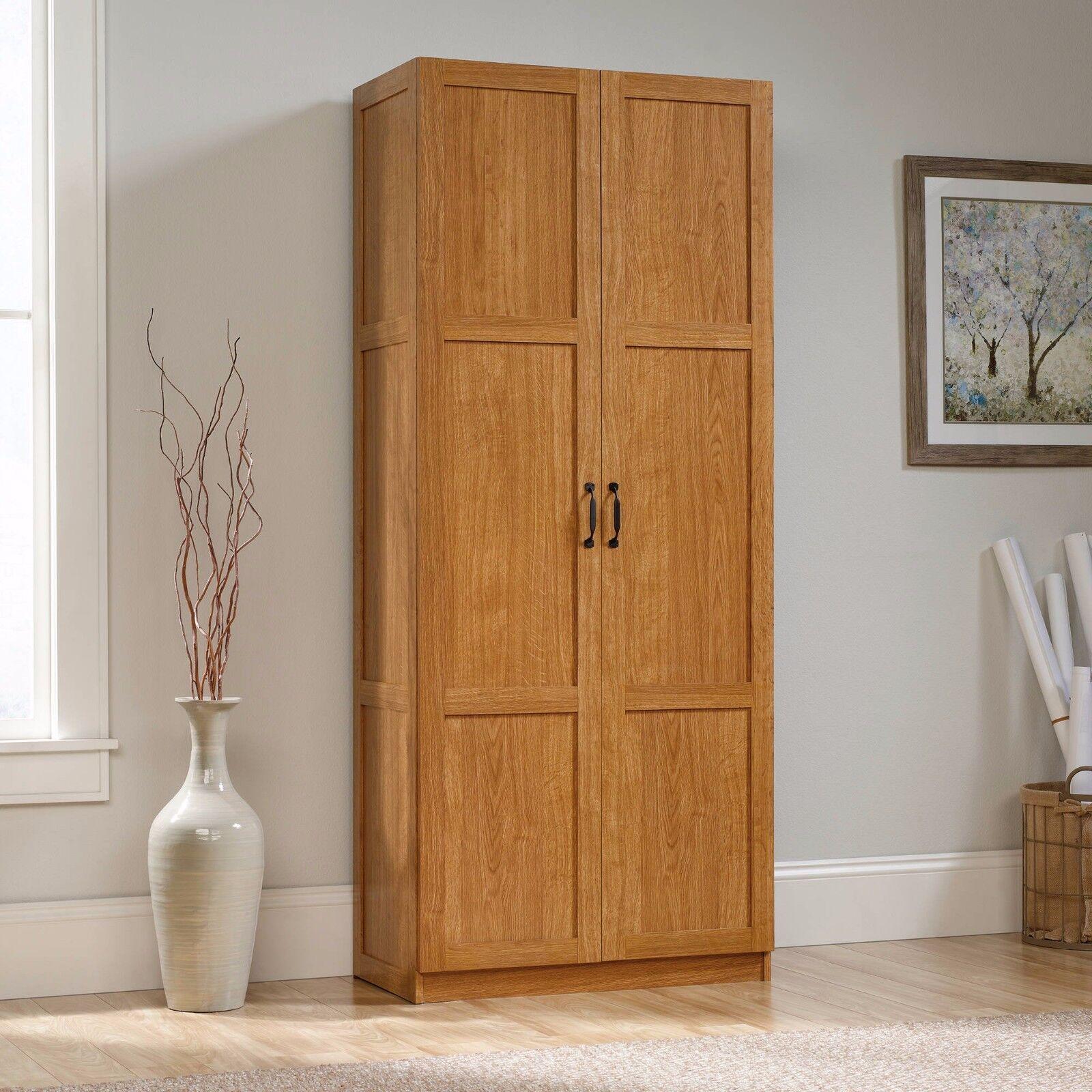 Sauder Storage Cabinet - 16 Deep 419188 Sgs Light Wood Finis