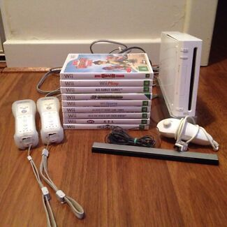 Nintendo Wii Console and Games Newton Campbelltown Area Preview
