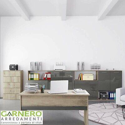 Arredo ufficio completo mobile TIME 20 rovere antracite studio moderno design