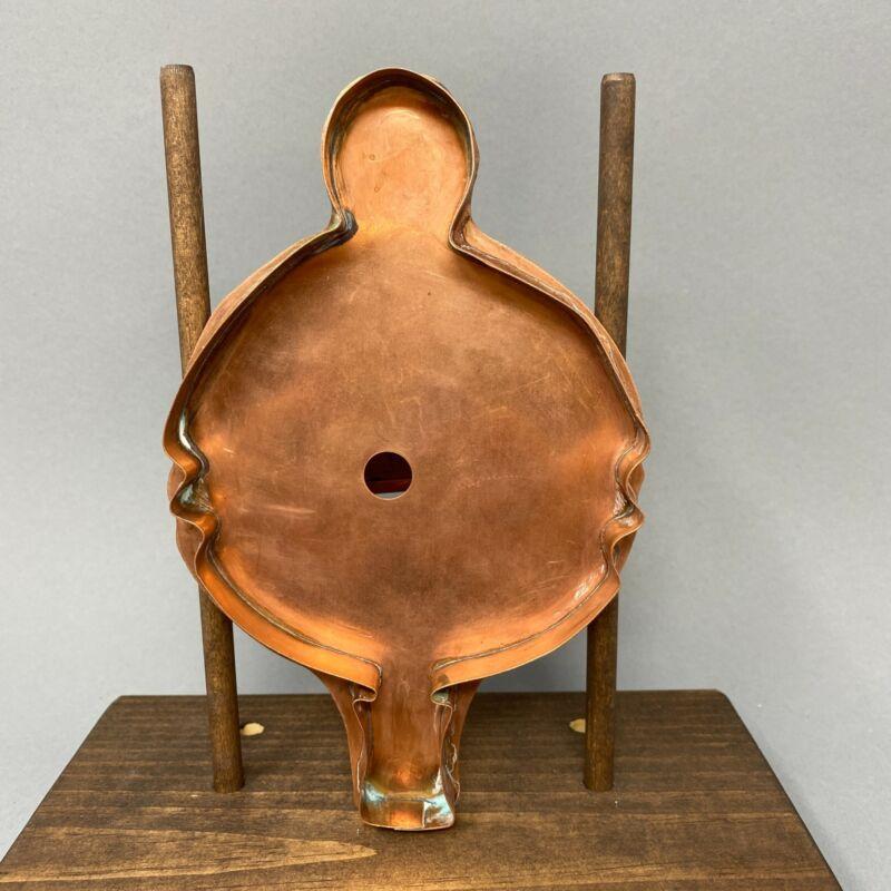 RARE Large Copper Cookie Cutter ~ Michael Bonne ~ Ornament?