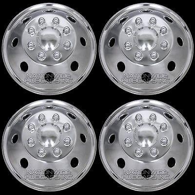 "16"" 8 Lug RV Motorhome Stainless Steel Dual Wheel Simulators Rim Covers Hub Caps"
