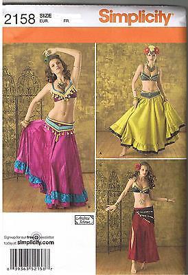 Sexy Harem Gypsy Bauch Tänzerin Tanz Kostüm Nähen Muster Plus 14 16 18 20 - Tanz Kostüm Muster