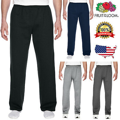 Fruit Of The Loom Mens SofSpun Open-Bottom With Pockets Adult Sweatpants SF74R