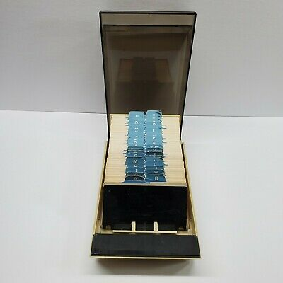 Rolodex Business Card Holder. File Dividers Full Of Blank Cards 4 X 2 Vip 24c