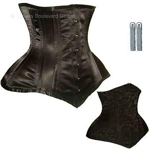 LARGER-HIPS-Corset-STEEL-Boned-WAIST-TRAINING-Basque-SEXY-Strong-Burlesque-Goth