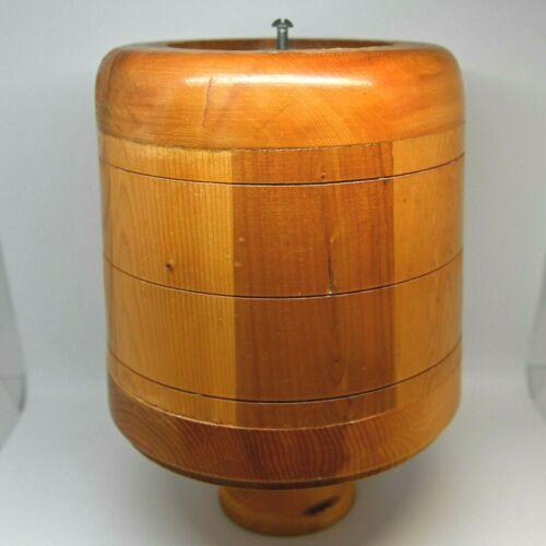 "Nantucket Basket Mold 8"" Weaving Basketry Wooden"
