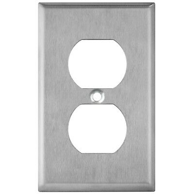 ENERLITES Duplex Outlet Receptacle Cover Wall Plate 430 Stainless Steel 1-4 Gang Gang Receptacle Wall Plate