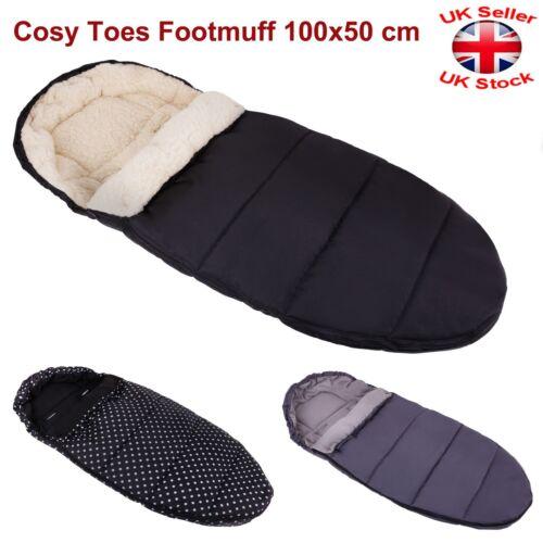 Universal Wool/Fleece Cosy Toes Footmuff Carrycot Buggy Pushchair Stroller Pram