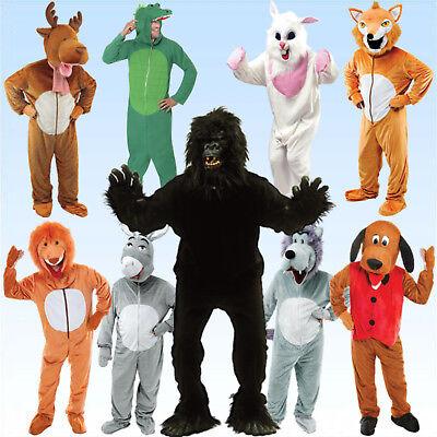 Tierkostüm Tier Vollkostüm inkl. Kopf  Esel Hund Wolf Fuchs Löwe Rentier - Esel Kopf Kostüm