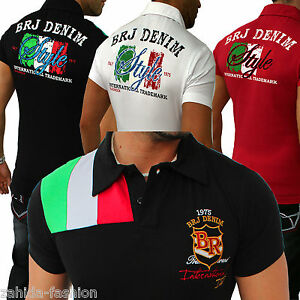 herren t shirt shirts shirt polo italia italien italy slim fit s xxl. Black Bedroom Furniture Sets. Home Design Ideas