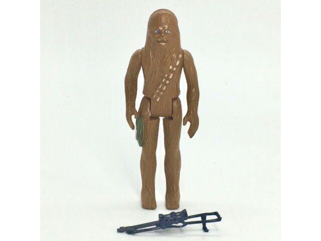 Star Wars Chewbacca Figure, Metallic Green Pouch, Original Gun, Kenner 1977