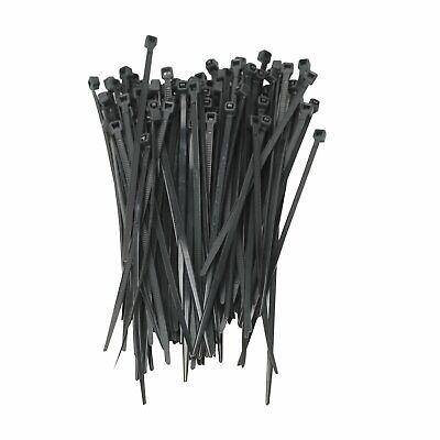 8 Inch Cable Ties Heavy Duty 75 Lbs 200x Nylon Plastic Wrap Zip Ties 5.6mm Bk