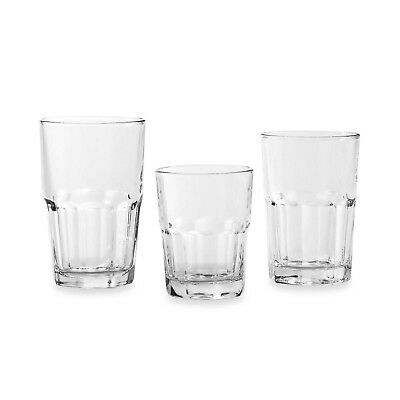 (Crisa Boston 18-Piece Glassware Set - Glass, Stackable - NEW - Free Shipping)