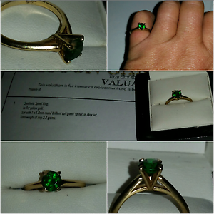 9ct yellow gold synthetic  green spinel Marsden Logan Area Preview