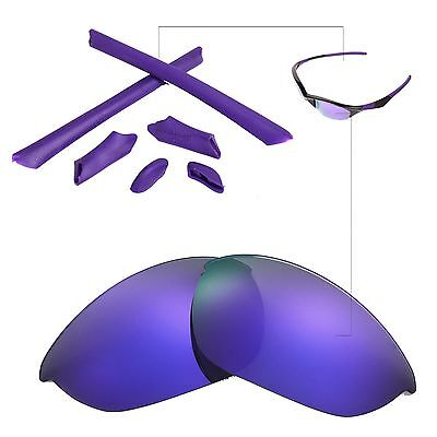 a51f20467d New Walleva Polarized Purple Lenses And Rubber Kit For Oakley Half Jacket