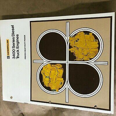 Cat Caterpillar 3400 Diesel Engine Brochure Original Antique