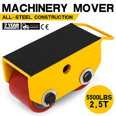 5500lbs 2.5t Machinery Mover Roller Dolly Skate Fixed Pu Roller
