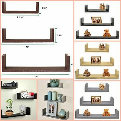 Living Room Wall Shelves Bedroom Furniture U Shape Home Decor Set Of 3  - Home Decor Living Room Furniture