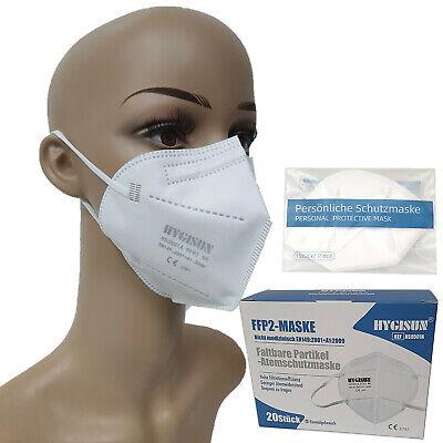 20 Stück HYGISUN FFP2 Mundschutz-Masken - DEKRA zertifiziert einzeln verpackt