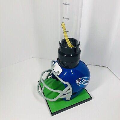 Bud Light Football Helmet Beer Tubes Beverage Tower Dispenser For Your Man Cave