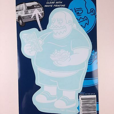 Comic Book Guy Simpsons (The Simpsons Comic Book Guy Car Window Sticker Decal Family)