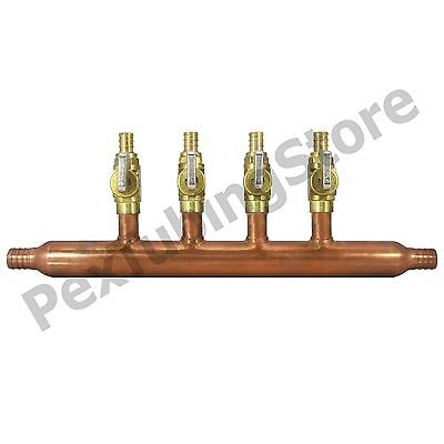 4 Port 12 Pex Manifold With Valves By Sioux Chief 672xv0499 Open