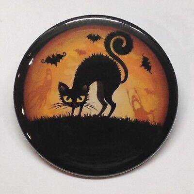 Halloween Cat, Bats, Ghost & Moon Vintage Style Fridge Magnet Buy 1 Get 1 FREE