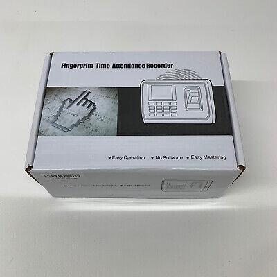 2.4 Color Screen Fingerprint Reader Time Attendance Employee Payroll Recorder