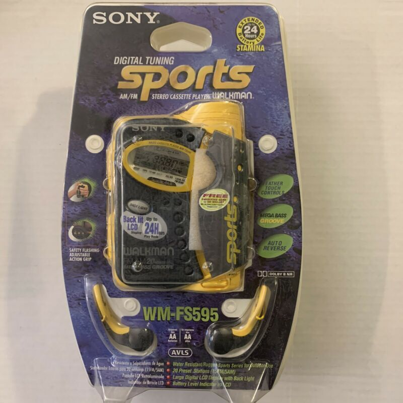 NEW + SEALED - Sony WM-FS595 Sports Walkman AM/FM Groove Radio Cassette Player
