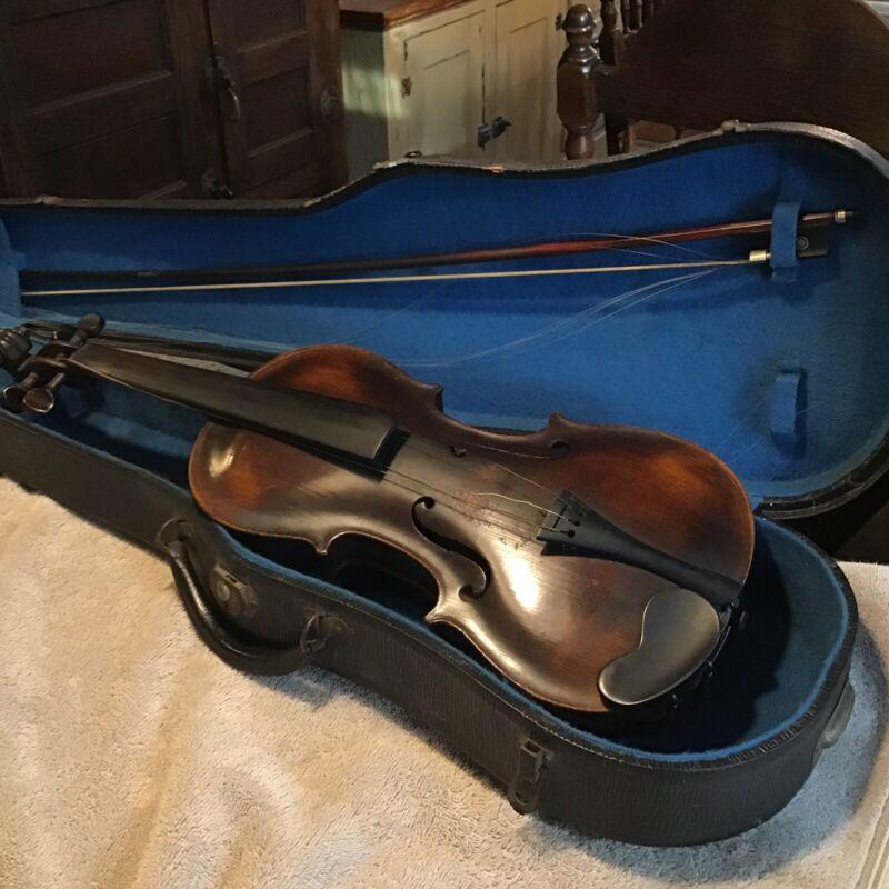 Antique Full Size Violin Jacobus Stainer Label & Case.