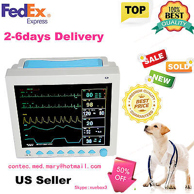 For Vet Icuccu Veterinary Patient Monitor Ecg Ekg Spo2 Pr Nibp 6-parametersus
