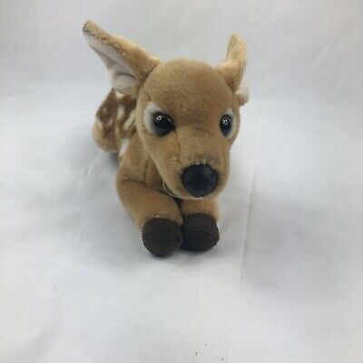 "Aurora Miyoni Deer Fawn Plush Toy Soft Stuffed Animal Doe Bambi EUC Cuddly 12"""