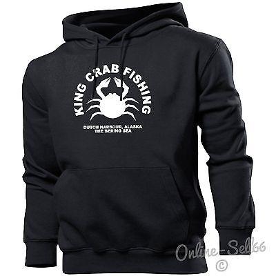 King Crab Fishing Mens Womens Hoodie Bering Sea Alaska Hoody Top Angling -