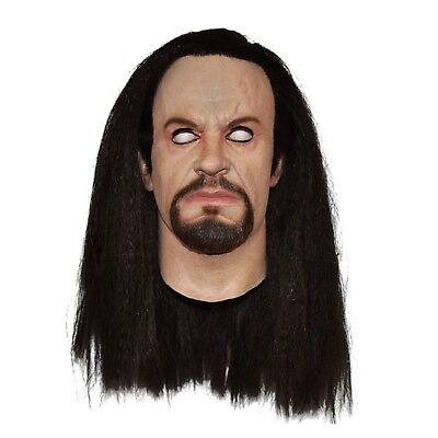 Men's WWE World Wrestling Tombstone Undertaker Latex Halloween Costume Mask - Undertaker Halloween