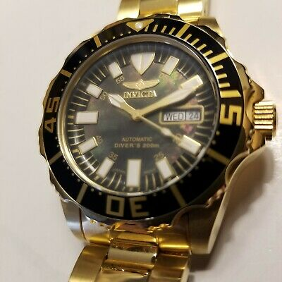 Invicta Pro Diver Abyss Automatic 40mm Black Mother of Pearl Dial Watch