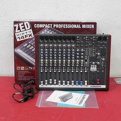 Allen & Heath ZED60-14FX Compact Mixer w Faders/Effects Re-Certified w Warranty