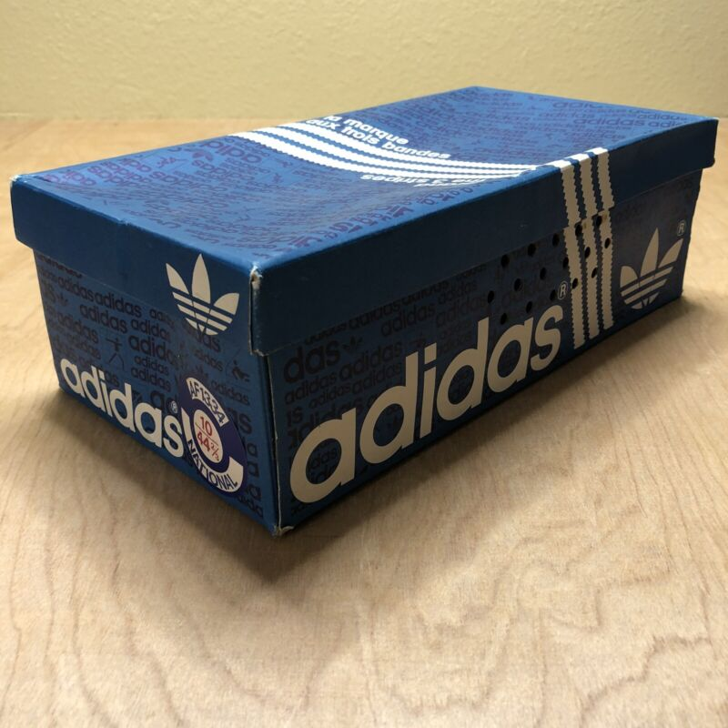 Vintage Adidas Shoe Box Empty 70s 80s Sneakers National