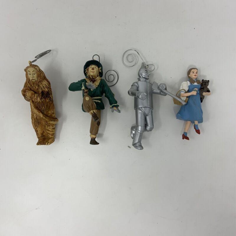 Lot Hallmark Wizard of Oz 1994 Christmas Ornaments Dorothy Tin Lion Scarecrow