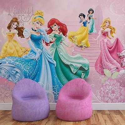 Disney Prinzessinnen Cinderelle Aurora VLIES FOTOTAPETE TAPETE MURAL (591DK)