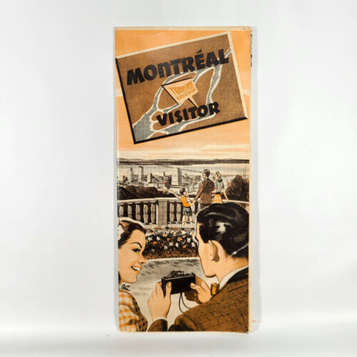 1946 Montreal Canada Vintage Travel Brochure Visitor Travelaide Canadaian