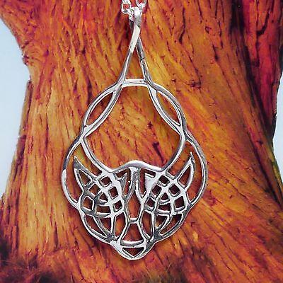 zauberhafter Arwen Anhänger Mittelalter 925Silber keltisches Herz Magie keltik