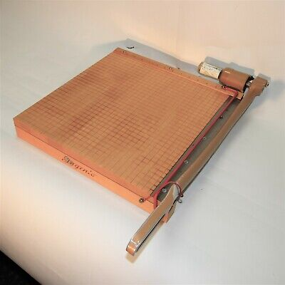 Vintage Ingento 1142-15 Paper Cutter Trimmer Photo Materials 15 Guillotine