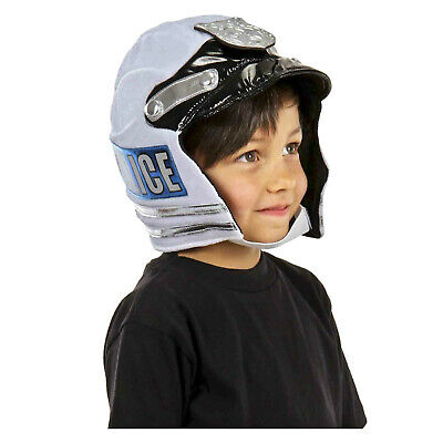 Kids Boys Police Plush Helmet Halloween Cosplay Costume Motorcycle Space Cop Hat (Motorcycle Cop Costume)